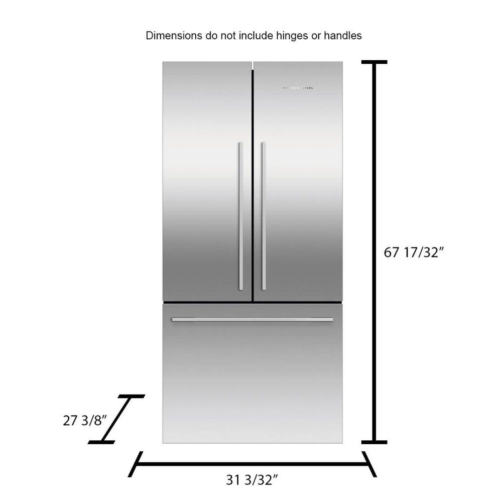 Fisher and Paykel 17.0 Cu. Ft. 3-Door French Door Refrigerator in Stainless Steel , , large