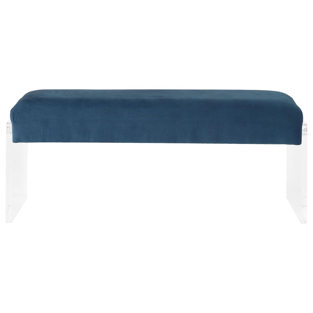 Gunnison Co. Marah Bench in Teal & Clear Acrylic, , large
