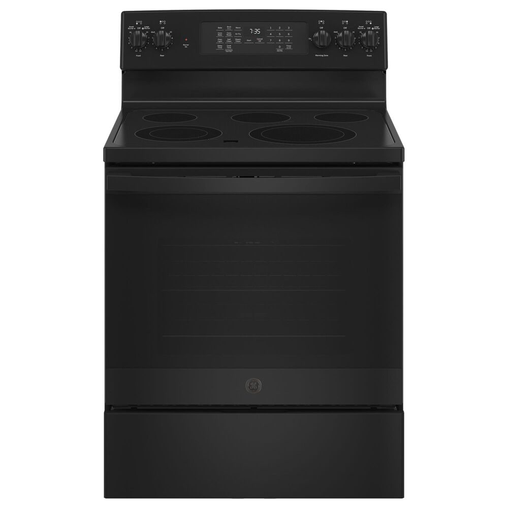 """GE Appliances 30"""" Freestanding Electric Range with Convection in Black, , large"""