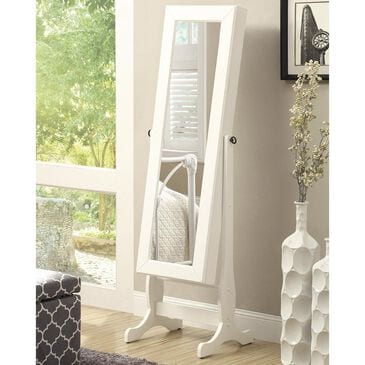 Pacific Landing Jewelry Mirror in White, , large