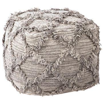 Blue Sun Designs Gansy Pouf in Grey Wool, , large
