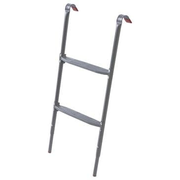 Jumpking 2 Step Removable Trampoline Ladder with Flat Steps in Silver, , large