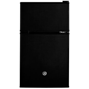GE Appliances 3.1 Cubic Feet Double-Door Compact Refrigerator in Black, , large