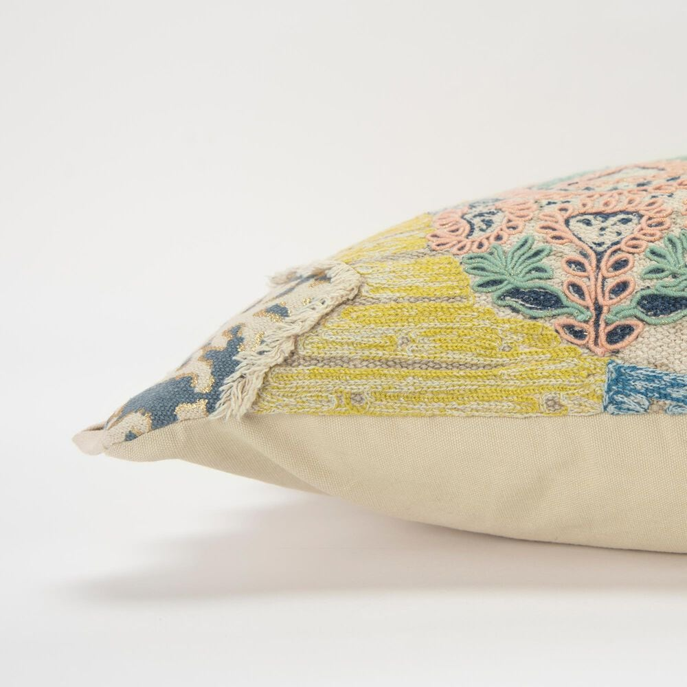 """Rizzy Home Geometric 14"""" x 26"""" Pillow in Navy, , large"""