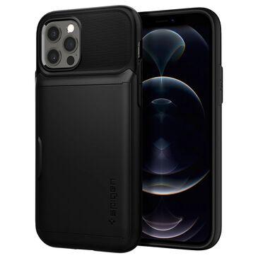 Spigen Slim Armor Wallet Case For Apple iPhone 12 / 12 Pro in Black, , large