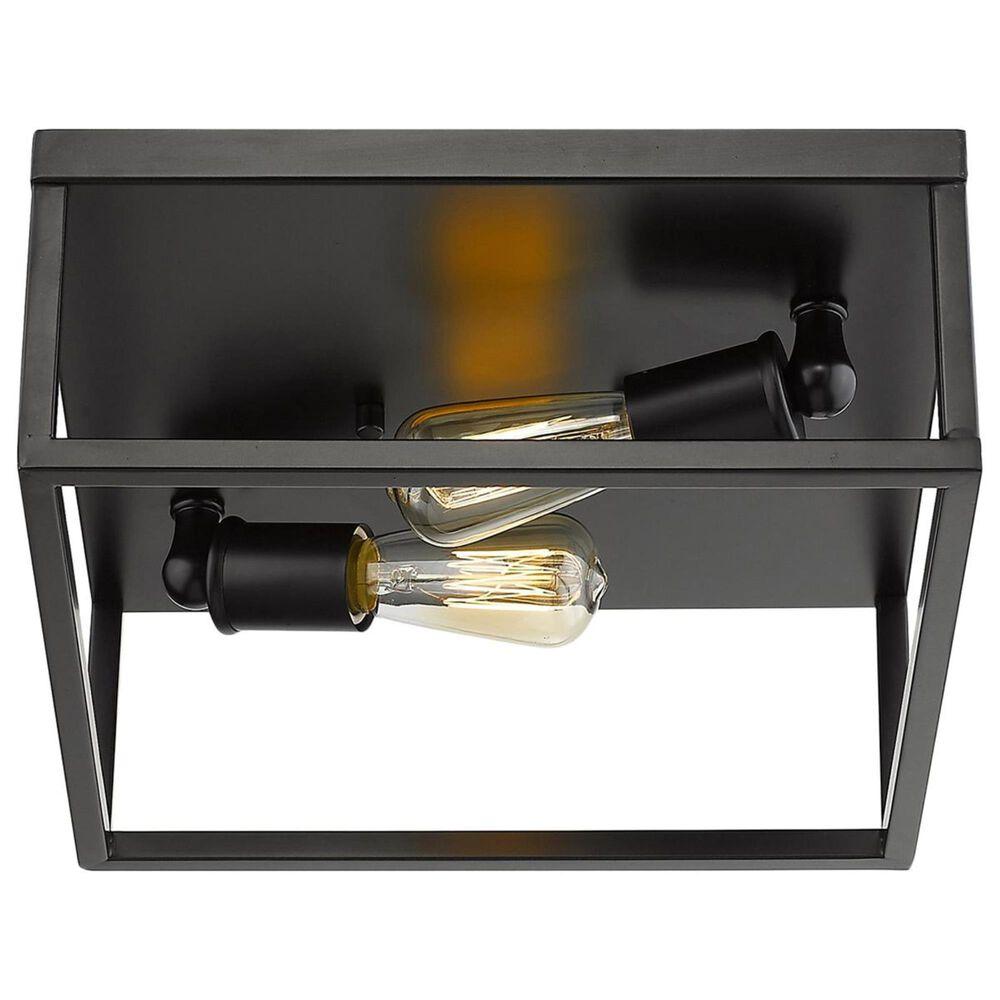 Golden Lighting Wesson Flush Mount in Black, , large