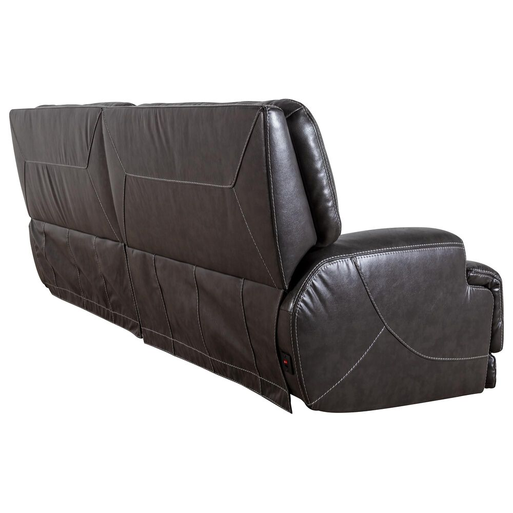 Sienna Designs Power Reclining Sofa with Power Headrest in Stampede Charcoal, , large
