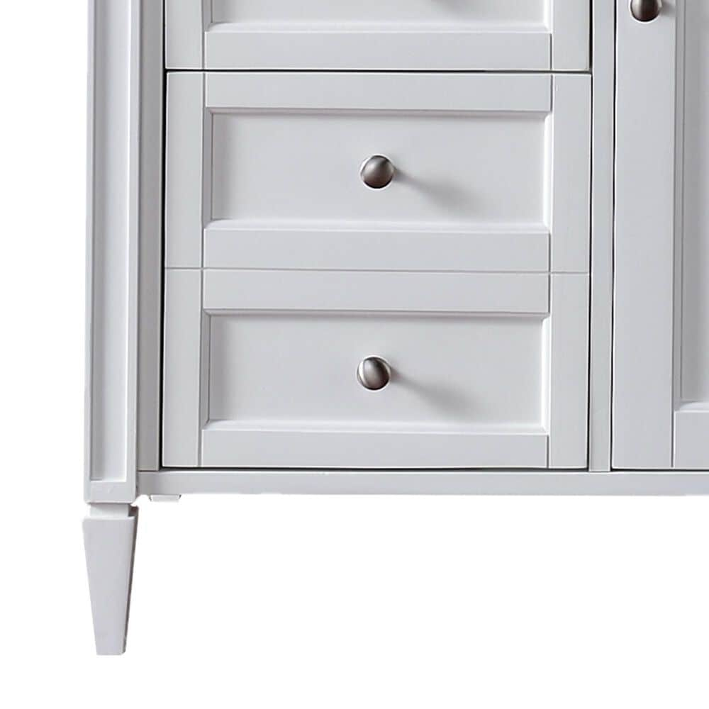 """James Martin Brittany 36"""" Single Vanity Base in Bright White, , large"""