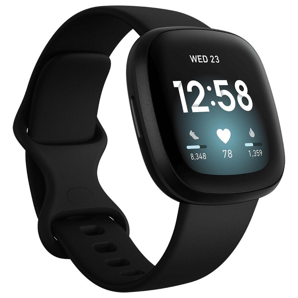 Fitbit Versa 3 Fitness Smartwatch in Black, , large