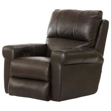 Hartsfield Torretta Leather Power Lay Flat Recliner in Chocolate, , large