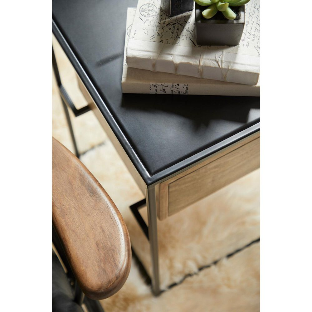 Accentric Approach Side Table in Brown and Black, , large