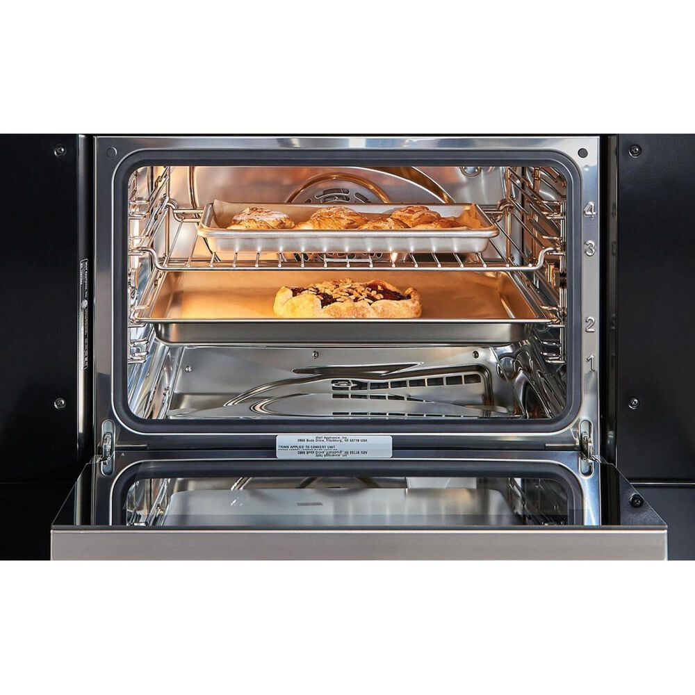 """Wolf 30"""" M Series Convection Steam Oven with Retractable Handle in Black, , large"""