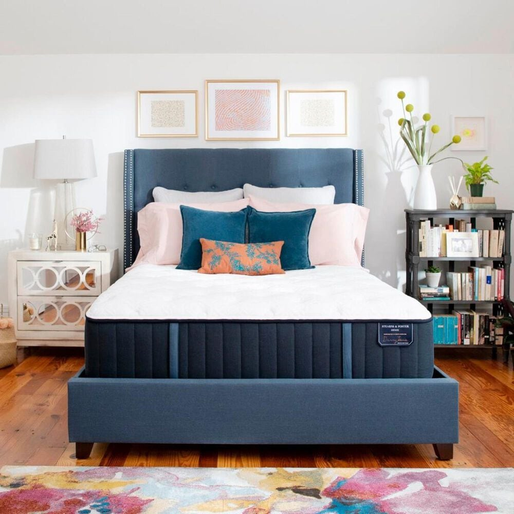 Stearns and Foster Estate Hurston Luxury Cushion Firm King Mattress with High Profile Box Spring, , large