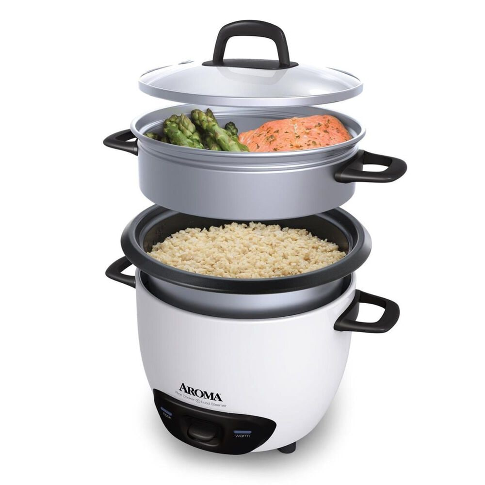 Aroma 6-Cup Rice Cooker and Food Steamer, , large