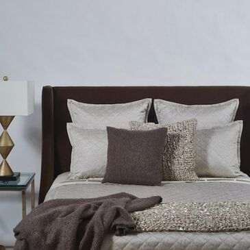 Ann Gish King Coverlet Set in Taupe, , large