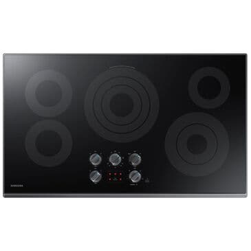 "Samsung 36"" Electric Cooktop in Black Stainless Steel , , large"