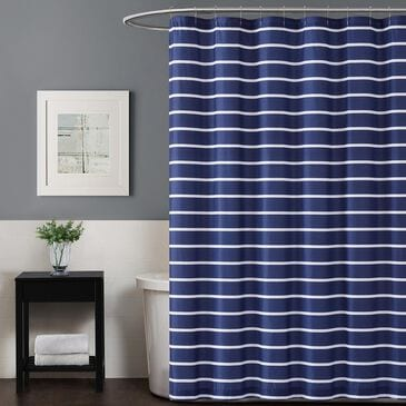 Pem America Truly Soft Maddow Shower Curtain in Navy, , large