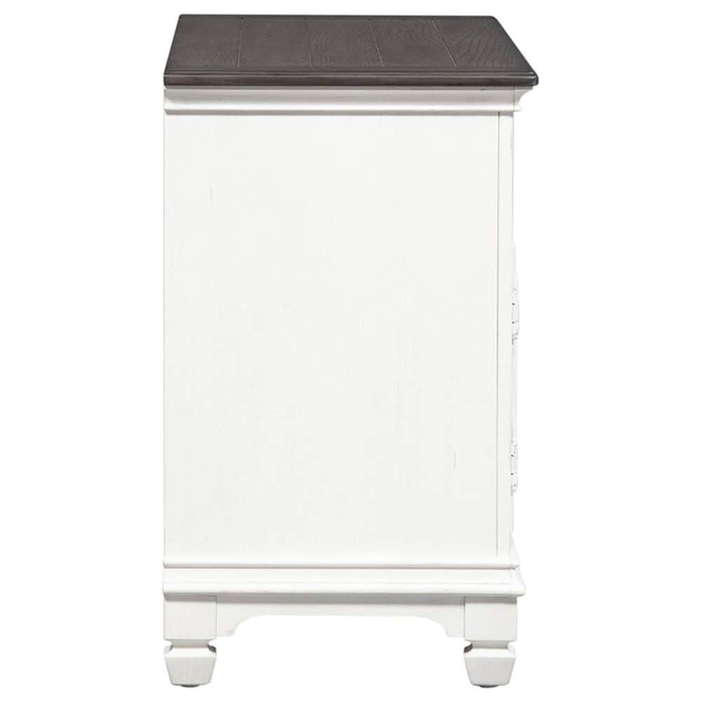 """Belle Furnishings Allyson Park 46"""" TV Console in Wirebrushed White and Weathered Gray, , large"""