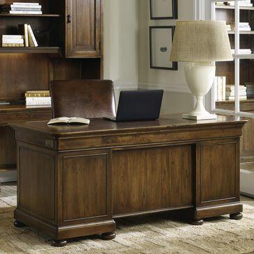 Hooker Furniture Archivist Executive Desk in Soft Pecan, , large