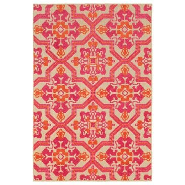 "Oriental Weavers Cayman 2541V 9'10"" x 12'10"" Sand and Pink Area Rug, , large"