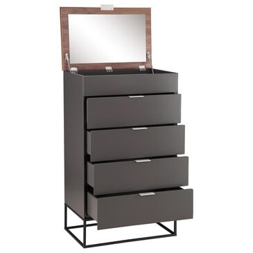 Moe's Home Collection Leroy Tall Cabinet in Grey, , large