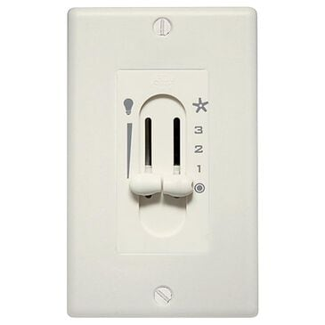 Hunter Fan Light Dual Slide Wall Control in Off White, , large
