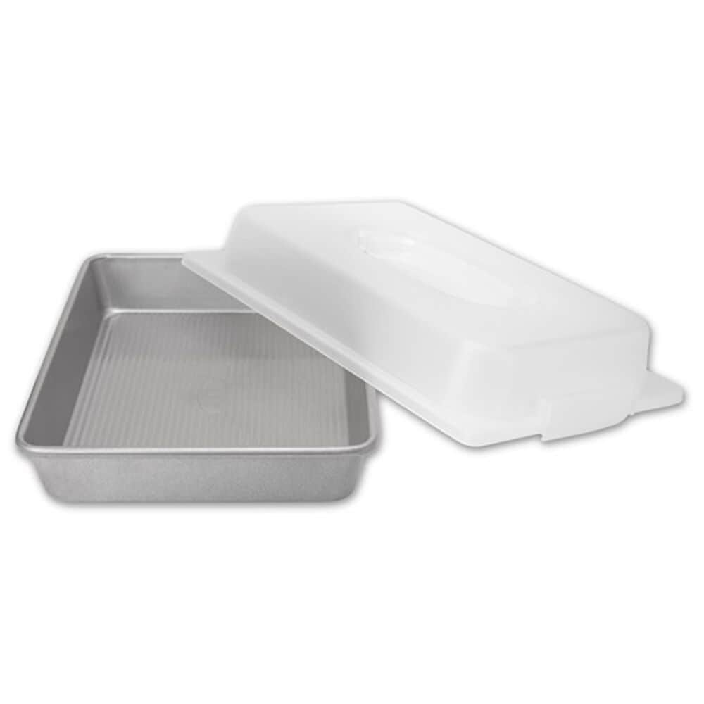 USA Gear Rectangular Cake Pan and Lid set, , large