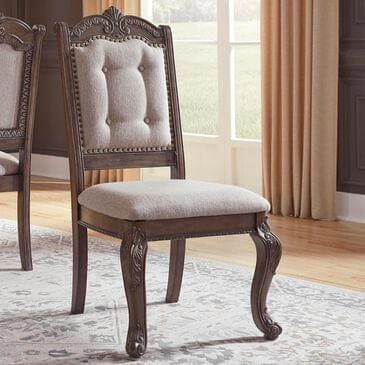 Signature Design by Ashley Charmond Side Chair in Dark Brown, , large