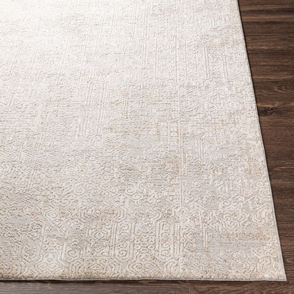 "Surya Carmel 6'7"" x 9'6"" Gray, White, Taupe and Ivory Area Rug, , large"