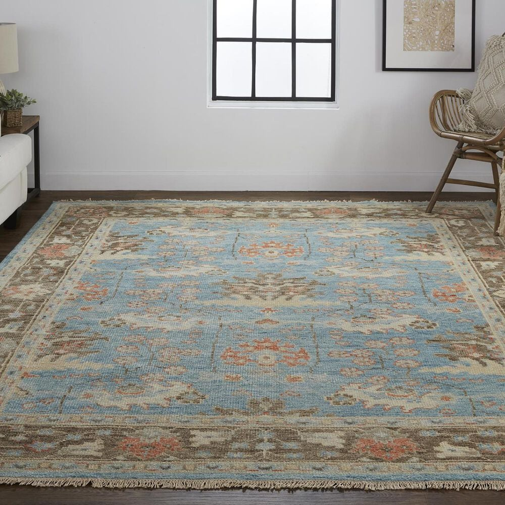 """Feizy Rugs Beall 5'6"""" x 8'6"""" Blue and Brown Area Rug, , large"""