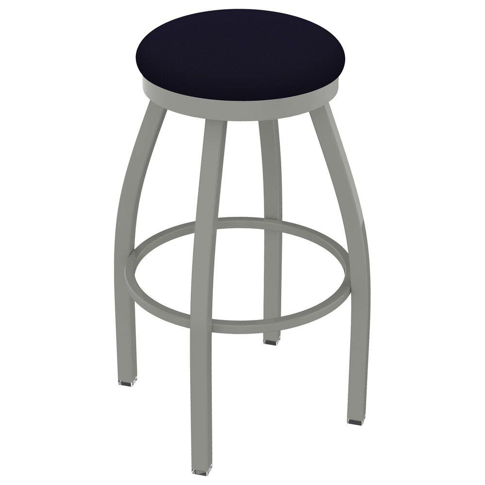 """Holland Bar Stool 802 Misha 25"""" Swivel Counter Stool with Anodized Nickel and Canter Twilight Seat, , large"""