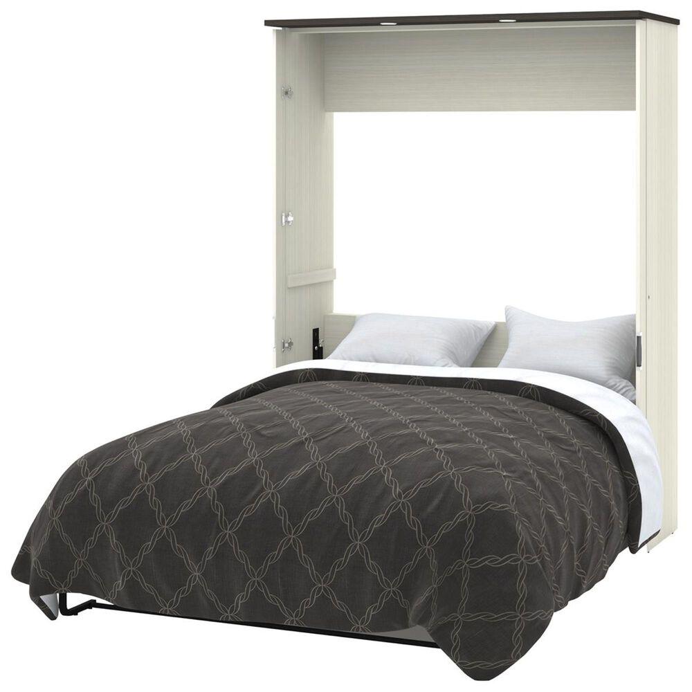 Bestar Lumina 3 Piece Queen Wall Bed in White Chocolate & Dark Chocolate, , large