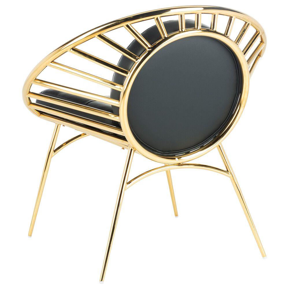 Safavieh Nina Hoop Chair in Black/Gold, , large
