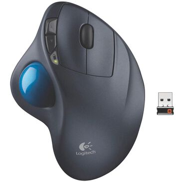 Logitech M570 Wireless Trackball Mouse in Gray, , large