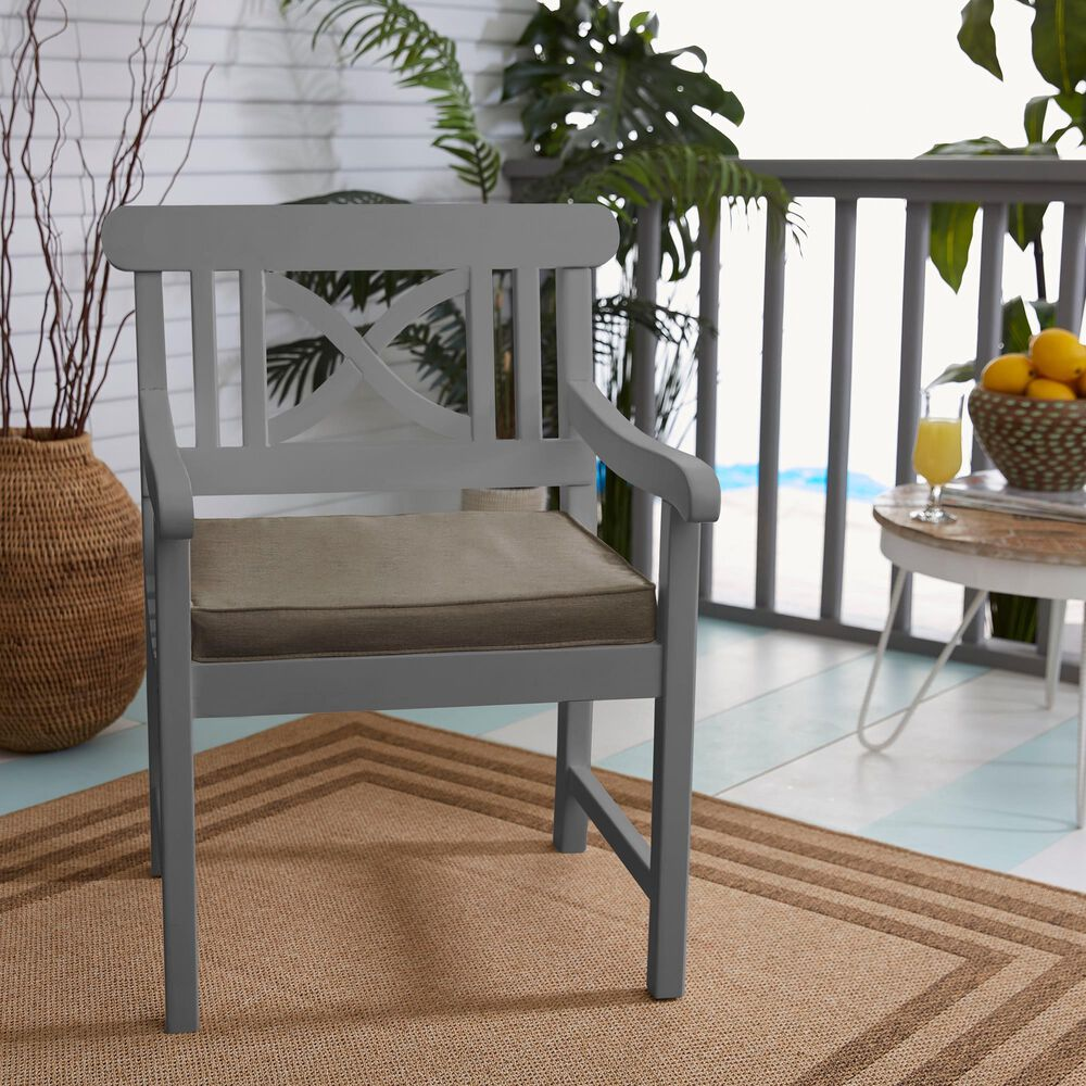 """Sorra Home Sunbrella 19"""" Chair Pad in Canvas Taupe (Set of 2), , large"""