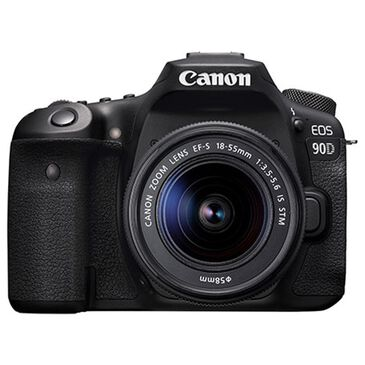 Canon EOS 90D DSLR Camera with 18-55mm Lens in Black, , large
