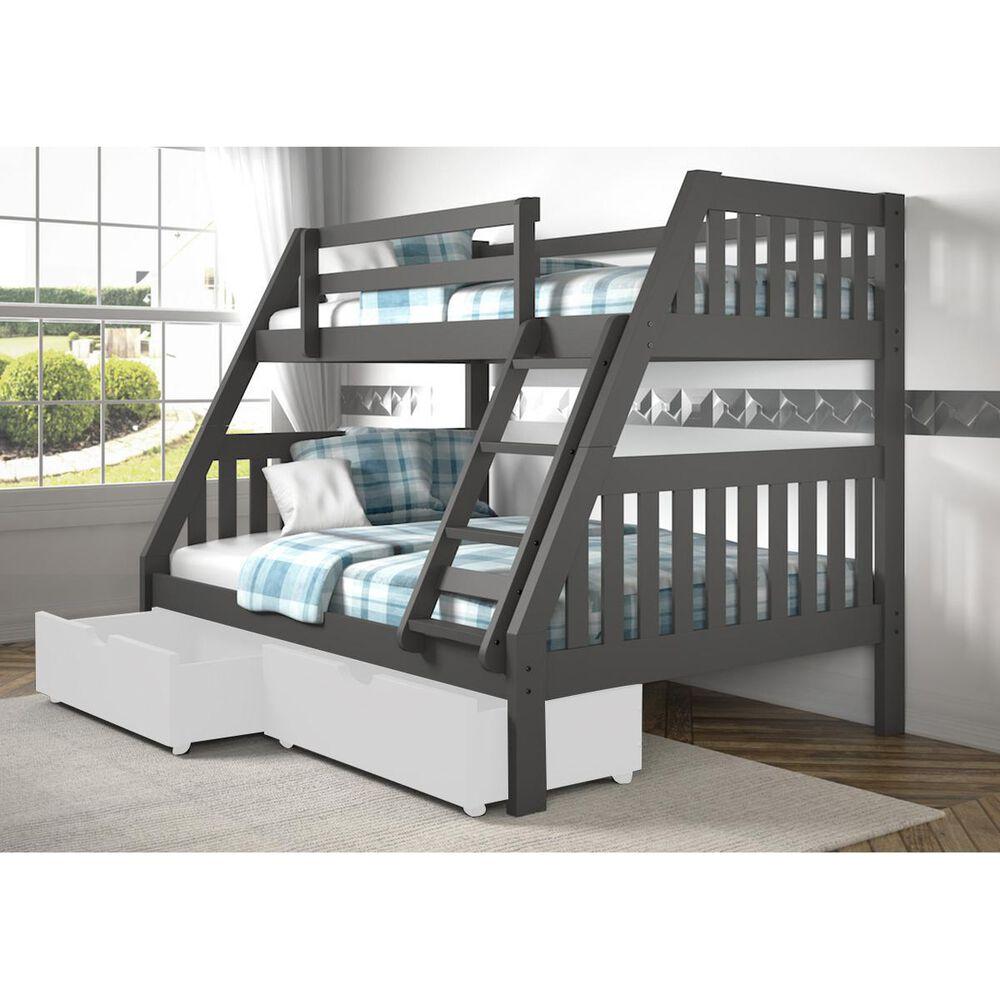 Cambria Designs Twin Over Full Bunk Bed In Gray Nebraska Furniture Mart