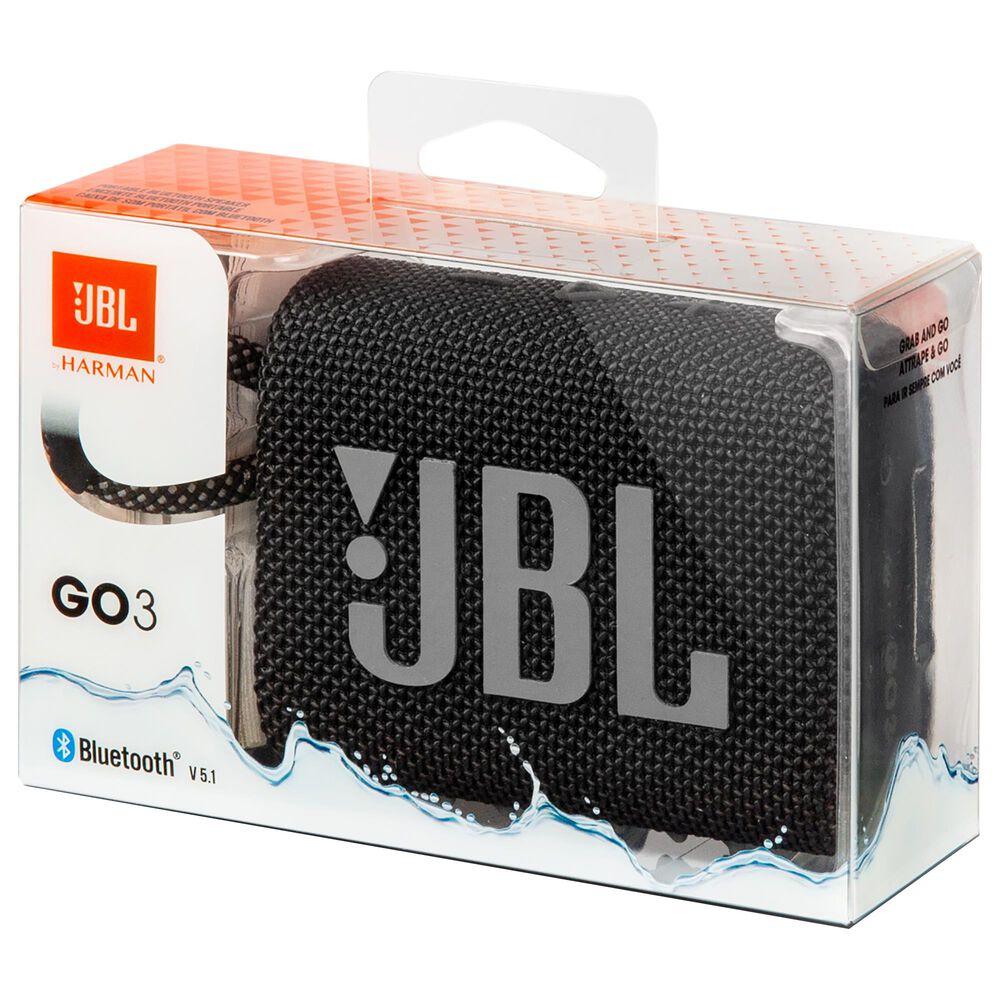 JBL Go 3 Waterproof Portable Bluetooth Speaker in Black, , large