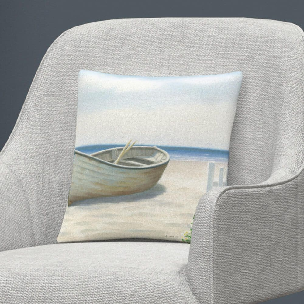 Timberlake James Wiens 'Beach Days I' 16 x 16 Decorative Throw Pillow, , large