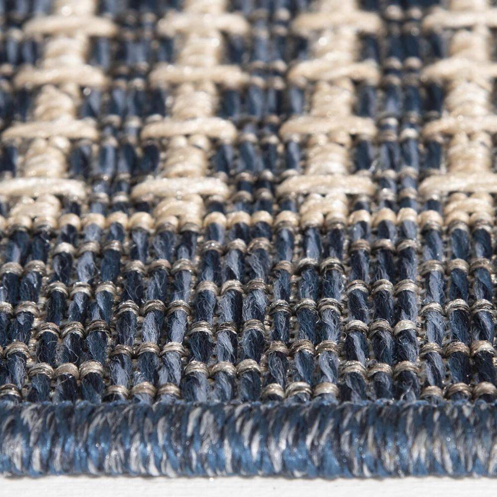 "Trisha Yearwood Rug Collection Gather Avola TYWD 5'3"" x 7'7"" Cobalt and Natural Outdoor Rug, , large"