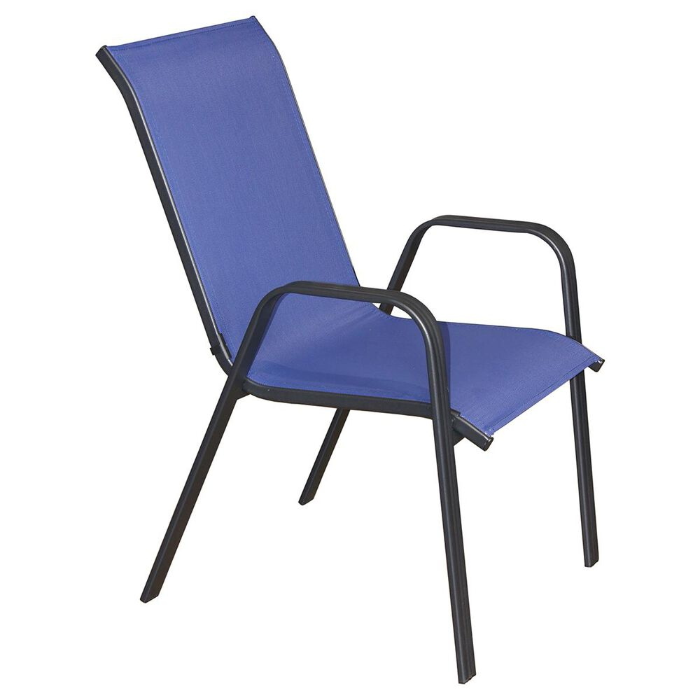 Loni Birch Color Stack Chair in Navy, , large