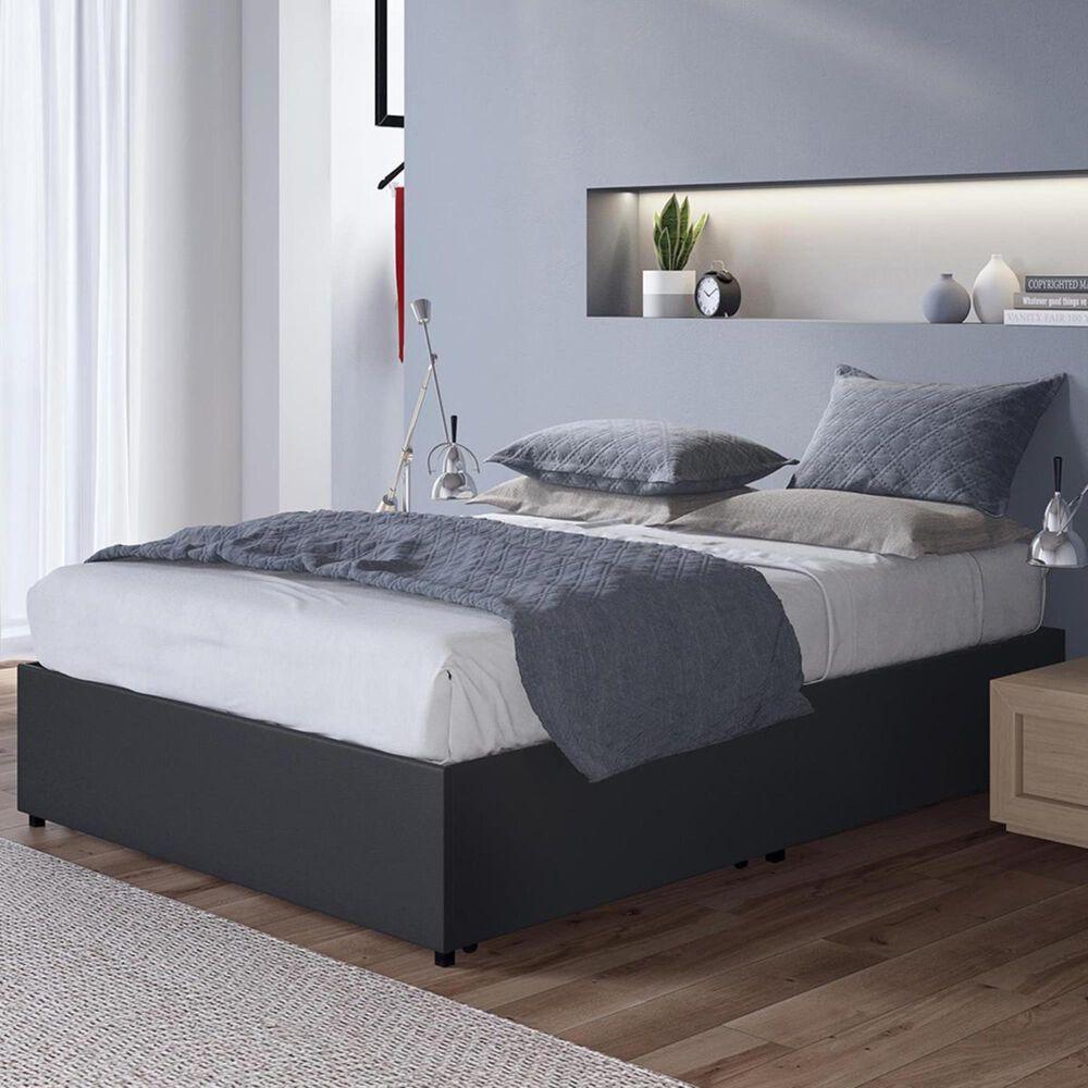 DHP Kristian Queen Upholstered Platform Bed in Black, , large
