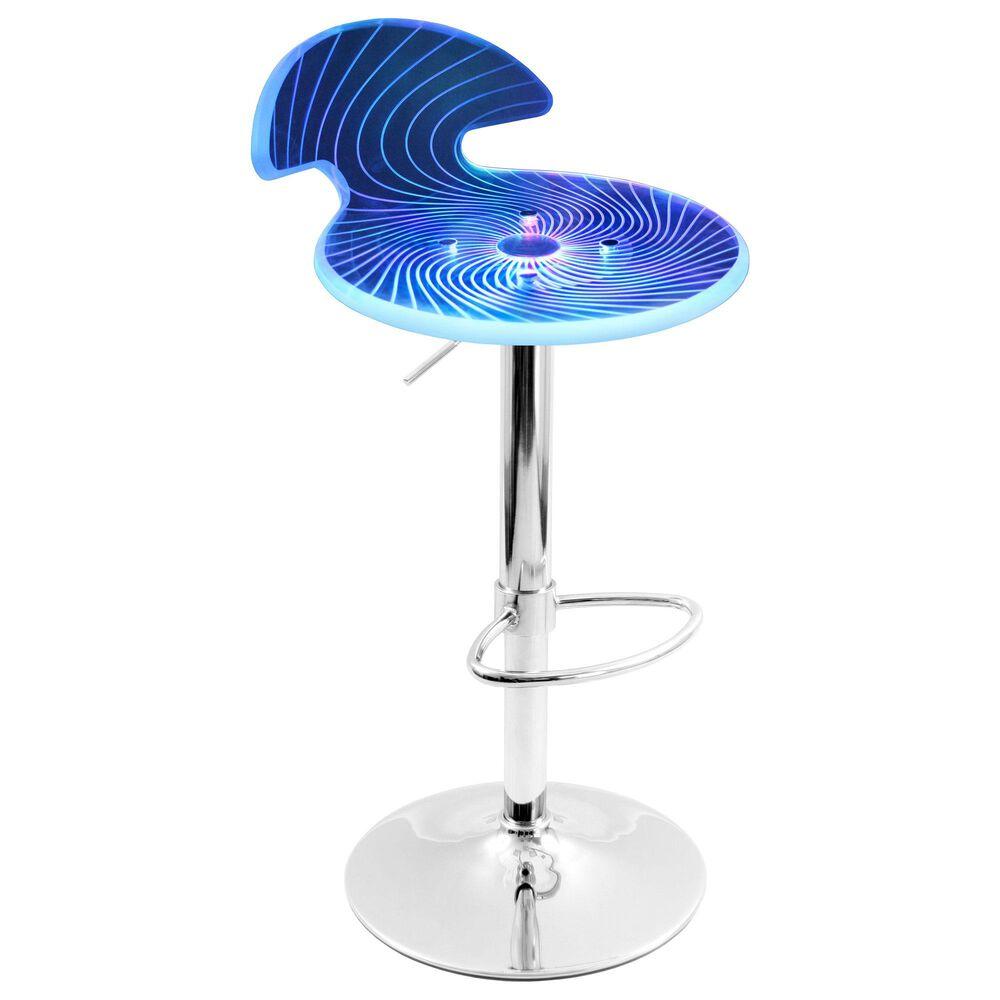 Lumisource Spyra Adjustable Barstool in Multi/Chrome, , large