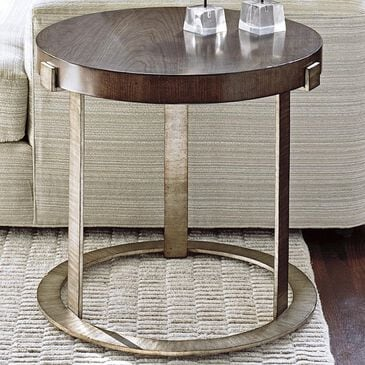 Lexington Furniture Laurel Canyon Wetherly Accent Table in Mahogany and Silver, , large