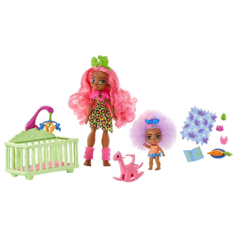 Mattel Cave Club Babysitting Playset with 2 Dolls and Accessories, , large