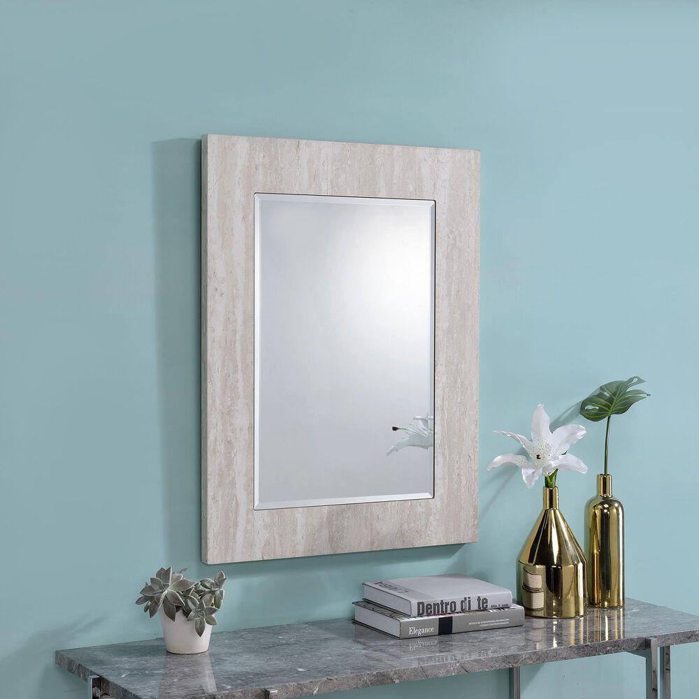 Furniture of America Garner Wall Mirror in White, , large