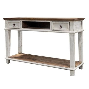 Rustic Imports Carol Console in White, , large