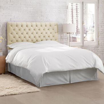 Skyline Furniture King Tufted Headboard in Regal Antique White, , large