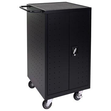 Luxor 18-Laptop/Chromebook Charging Cart in Black, , large