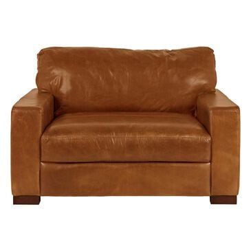 37B Leather Chair and a Half in Splendor Chestnut, , large